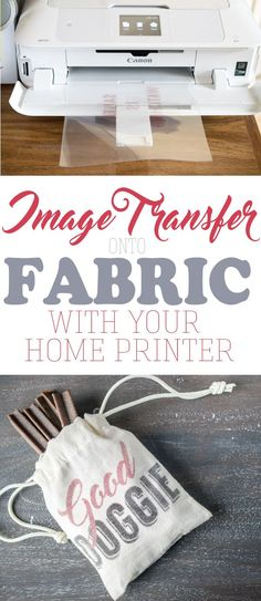 How to transfer an image onto fabric especially if you cannot print an image directly on the fabric Transferring an image or text with just your home printer is easier th. Diy Projects To Try, Crafts To Make, Craft Projects, Arts And Crafts, Diy Crafts, Craft Tutorials, Craft Ideas, Food Crafts, Homemade Crafts