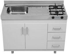 Ganhe espaço e beleza na cozinha com o fogão pia 2em1