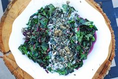 Beet Greens With Citrus Yogurt Dressing