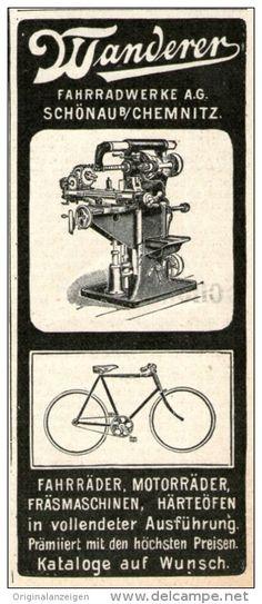 Original-Werbung/ Anzeige 1905 - WANDERER FAHRRÄDER & MOTORRÄDER - ca. 45 x 110 mm