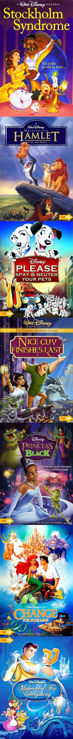 Alternate Disney film titles.  Spot on.  SOO FUNNY