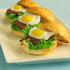SuperBowl Slider Suggestion: SPAM and quail egg sliders?!