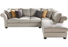 picture of Sofia Vergara Santa Barbara 2 Pc Sectional  from Sectionals Furniture