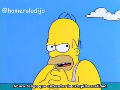Simpsons Frases, Simpsons Funny, Cartoon Network Adventure Time, Adventure Time Anime, The Simpsons Tv Show, Far Side Comics, Great Tv Shows, Homer Simpson, Funny Memes