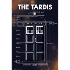 AFFICHE Doctor Who Poster - Tardis Plans (91 x 61 cm)