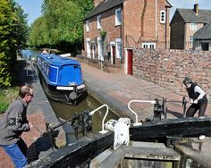 -Canalboat At Worcester Marina  (#A849) Lowesmoor Wharf, Worcester, UK