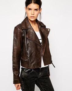 119$, Brown - New Women's  Genuine Soft Lambskin Leather Moto Biker Jacket   #ShaanLeather #Motorcycle