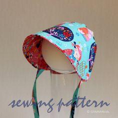 Sun Bonnet PATTERN PDF sewing pattern newborn to by GAMMAkids