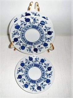 Vintage 1950s Seltmann Weiden Classic Porcelain Dresden Blue