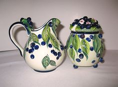 BLUEBERRY CREAM & SUGAR SET - Jeanette McCall - ICING ON THE CAKE