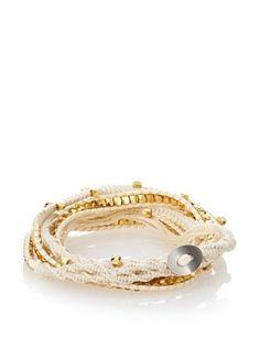 OK 1984 White Five-Layer Thread Wrap Bracelet