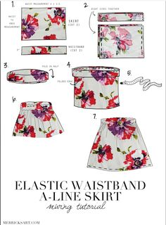 Merrick's Art // Style + Sewing for the Everyday Girl: floral midi skirt tutorial Sewing Projects For Beginners, Sewing Tutorials, Sewing Hacks, Sewing Crafts, Sewing Tips, Dress Tutorials, Sewing Clothes, Diy Clothes, Clothing Patterns