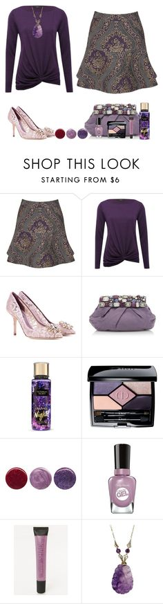 """Perfect Peplum Skirt"" by akgsteeler ❤ liked on Polyvore featuring Joe Browns, M&Co, Dolce&Gabbana, Prada, Christian Dior, Deborah Lippmann, Sally Hansen and Lane Bryant"