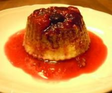 Or these as birthday camping treat - Coconut Cream Puddings with Berry Syrup