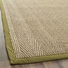 @Overstock.com - Hand-woven Sisal Natural/ Olive Seagrass Rug (8' x 10') - Add interest to your home decor with a hand-woven rugRug features a casual pattern with a natural background and olive borderArea rug is crafted of natural sea grass with 100-percent cotton canvas backing  http://www.overstock.com/Home-Garden/Hand-woven-Sisal-Natural-Olive-Seagrass-Rug-8-x-10/4256821/product.html?CID=214117 $163.39