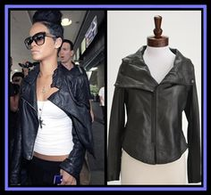 Dallin Chase Solomen Leather Jacket. Seen on Rihanna. NewChicBoutique.com