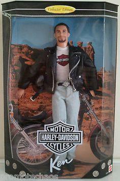 1st HARLEY DAVIDSON MOTORCYCLES BARBIE KEN leather jacket boots chain wallet men F