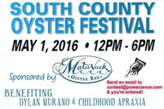 Win 2 Tickets to the South County Oyster Festival from Pow!Science! Winner announced 4/29/16!