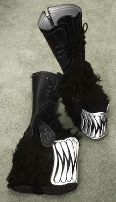 Swear monster boots ...  really miss cyber-goth!