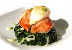 Maine Lobster Florentine with Beurre Blanc