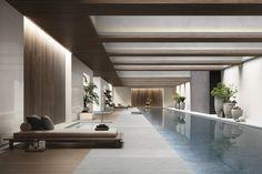 Cemento - Diseños - Hazlo con Cerámicos Divider, Room, Furniture, Home Decor, Cement, Bedroom, Decoration Home, Room Decor, Rooms