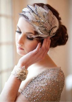 great gatsby wedding  ) Feather Headpiece 272f22fd0a