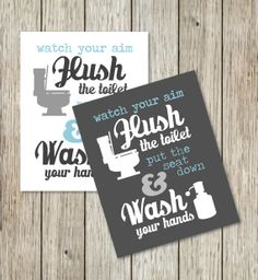 Instant Download Printables  Bathroom Print  2 by CoCoStineDesigns, $5.00