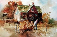 Carl Purcell Realistic Watercolor paintings