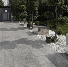 Outdoor tile / for floors / porcelain stoneware / matte STONETRACK : STONE GREY…