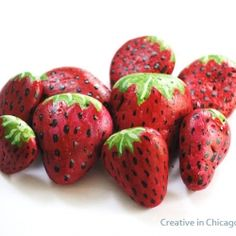 Easy tutorial on how to make these pretty rocks. Put them around your strawberry plants to protect them from the birds.