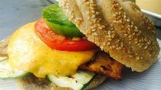 Burger au fromage d'avoine (oat cheese burger)