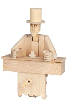 Our advanced kit features a mechanical magician with a trick or two up their sleeve. Ths advanced wooden automata kit is ideal for advanced model builders. Wooden Model Kits, Easy Model, Acrylic Paint Set, Help The Environment, Timber Wood, Automata, The Conjuring, The Magicians, Natural Wood