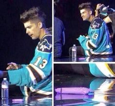 Zayns face when someone threw a tampon on stage.