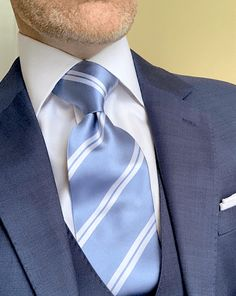 Water Blue, Deep Water, Business Dresses, Business Outfits, Mens Fashion Suits, Mens Suits, Shirt And Tie Combinations, Blue Dots, Harvey Specter