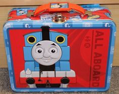 Thomas the Train Tin Lunch Box - New - School - carrying case - children's - red