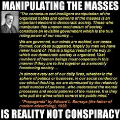 """Google+Robert Brueck Free PDF of """"Propaganda"""" By Edward Bernays The Father of Public Relations.  In his work Bernays urges P.R. practitioners to create """"pseudo-realities"""" to """"engineer (public) consent.""""   http://www.whale.to/b/bernays.pdf"""