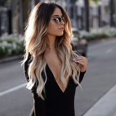 33 New ideas hair color highlights blonde ombre balayage Ombré Hair, Curls Hair, Loose Curls, Mom Hair, Wave Hair, Fall Hair Colors, Hot Hair Colors, Hair Colours Ombre, Color In Hair