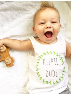 Unique and adorable baby tees for your little hippie. Explore kids tshirts with unique sayings and graphic designs at http://www.citizenbeachapparel.com/product/hippie-dude-boys-graphic-tank/ | Baby Fashion