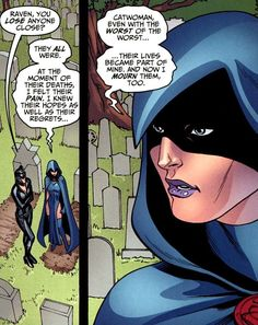 """trigonkinnie: """" its nothing special but im fucking losing it? trigonkinnie: """"Wh- Hold on a minute, catwoman and raven actually interacted in canon before """" """" Raven Comics, Marvel Dc Comics, Dc Comics Collection, Raven Beast Boy, Dc Memes, Pokemon Cosplay, Teen Titans Go, Dc Characters, Comic Games"""