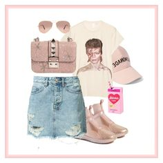 """""""Pink"""" by aputrifebxx on Polyvore featuring Amici Accessories, MadeWorn, Puma, Ksubi, Valentino and Ray-Ban"""
