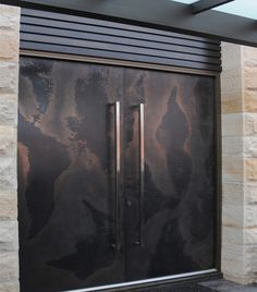axolotl.com.au - they pioneered the bonding of semi-precious metal onto any substrate - viper torn bronze graphite door cool handles