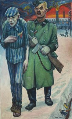 Auschwitz Memorial acquires painting by David Olère, a former prisoner, as a gift for the Museum. Notice the small shoe, slipper, and toy in the lower right. Jewish History, Jewish Art, Sibylla Merian, Holocaust Memorial, Gcse Art, Interesting Faces, Horror Art, World War Ii, World History