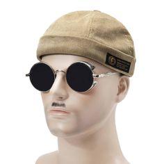 Men Women Couples Adjustable Solid Corduroy Velvet Brimless Hats Retro  Vogue Crimping Bucket Cap Sailor Cap e868414c1bb