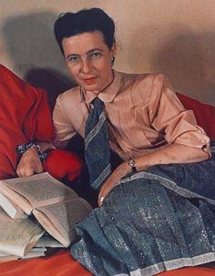 Gisèle Freund, Simone de Beauvoir, 1948