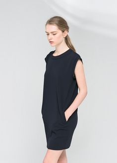 Vestido bolsillos ribete -  Mujer | OUTLET