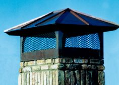 """#TraditionalChimneyCap Beach Sheet Metal Company chimney caps are designed to not only add that special """"finishing touch"""" to your chimney but to also protect the chimney from damaging rain, ice, birds and rodents. Chimney caps should appear to have been designed as a part of the home – not as an after-thought. #BeachSheetMetal #Chimney"""