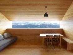 Gaudin House - Small Cabin - Savioz Fabrizzi Architectes - Switzerland - Window View - Humble Homes Architecture Design, Interior And Exterior, Interior Design, Design Interiors, Interior Decorating, Design Moderne, Cabana, Modern Design, New Homes