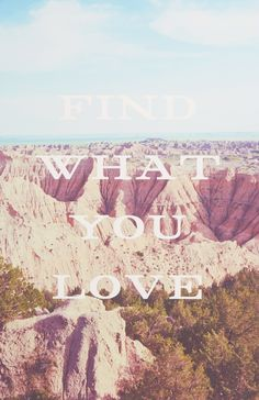Find what you love.