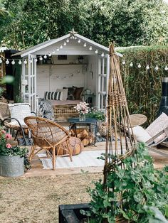 Inspired Home Tour {Upstairs} Boho Summerhouse - Theresa's Four Bed Edwardian Garden With Boho Inspired Summer House. Image By Adam Crohill.Boho Summerhouse - Theresa's Four Bed Edwardian Garden With Boho Inspired Summer House. Image By Adam Crohill.