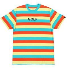 GOLF STRIPE TEE LIGHT BLUE GOLF WANG
